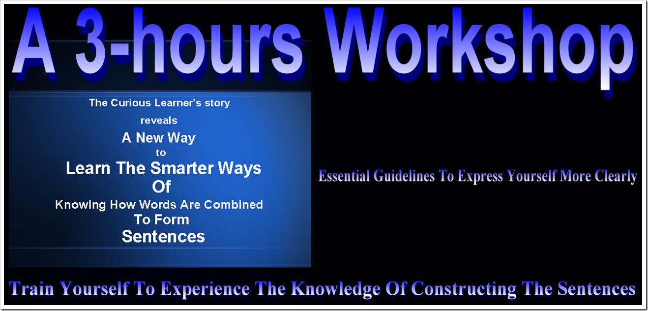 Workshop - Constructing The Sentences